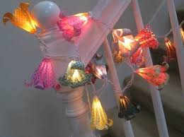 Origami Light Fixture Origami Flower String Light Lamp Lantern Directions Faery House