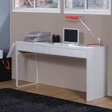 bureau informatique blanc laqué touch bureau informatique contemporain blanc brillant l 138 cm pour