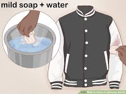 how to clean a letterman jacket with pictures wikihow