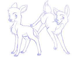 deer sketches by thewardenx3 on deviantart