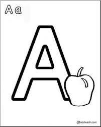 alphabet letter coloring kids pre