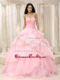 quinceanera pink dresses baby pink ruching sweetheart made flowers for quinceanera