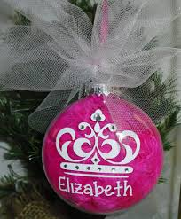 personalized princess crown christmas ornament u2013 a pink hippo party