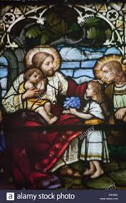 christ jesus loves little children with his mother the virgin mary