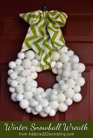 styrofoam wreath snowball winter wreath made with styrofoam balls and epsom salt