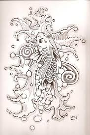 nice koi fish tattoo drawing real photo pictures images and