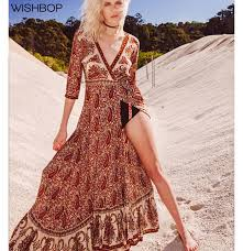 boho wrap wishbop 2017 new woman boho paisley pattern printing asymmetrical