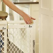 Extra Wide Pressure Mounted Baby Gate Amazon Com Extra Wide Gate Ivory Fits Spaces Between 22