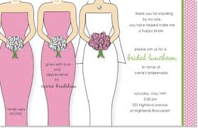 bridesmaids luncheon invitation wording bridal luncheon invites kawaiitheo
