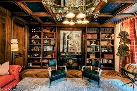 home library interior design dlb contemporary rug featured in architectural digest rug