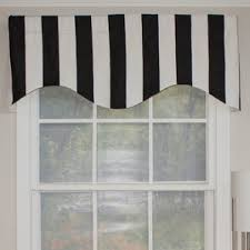Cape Cod Kitchen Curtains by Striped Valances U0026 Kitchen Curtains You U0027ll Love Wayfair