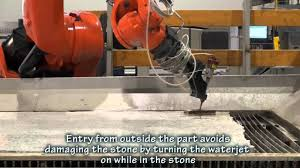 waterjet cutting of countertop youtube