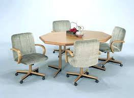 kitchen table and chairs with casters chairs on casters for dining table kitchen caster chairs kitchen