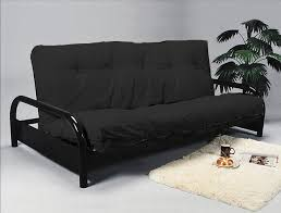 futon metal sofa bed bk metal black futon sofa bed frame 229 00 mattress sold separately