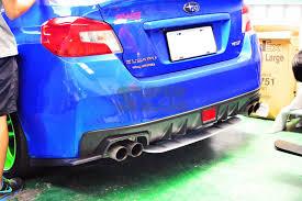 subaru wrx spoiler 2016 for subaru wrx 4d sedan rear sti type abs rear diffuser under lip