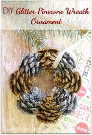 ornaments glitter pinecone wreath