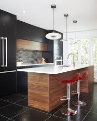 cuisine laqu armoires de cuisine moderne en merisier laqu et noyer tranch photo