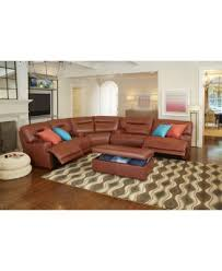 Ricardo Leather Reclining Sectional Sofa  Piece Power Recliner - Ricardo leather reclining sofa