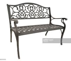 park bench front stock photo getty images