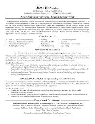 Senior Resume Template Senior Accountant Resume Format Http Resumecareer Info