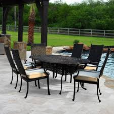 All Weather Wicker Patio Dining Sets - carondelet 7 piece wicker patio dining set w 84 inch oval patio