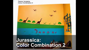 how to apply asian paints jurassica glow theme with color codes