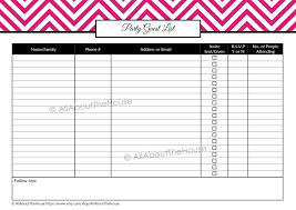 birthday party planner template party planning printables kit party guest list 1