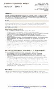 benefits analyst sample resume compensation analyst resume samples qwikresume
