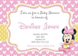 minnie mouse baby shower invitations baby minnie mouse baby shower invitations partyexpressinvitations