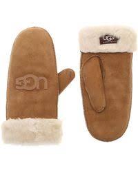 ugg mittens sale ugg gloves leather gloves winter gloves mittens lyst