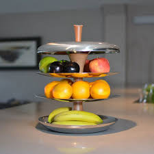 stylish stainess steel fruit bowl