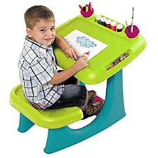 amazon com keter sit u0026 draw kids art table creativity desk with