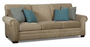traditional enso memory foam sleeper sofa with rolled arms by