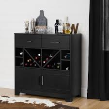 Oak Bar Cabinet South Shore Vietti Bar Cabinet With Bottle Storage And Drawers