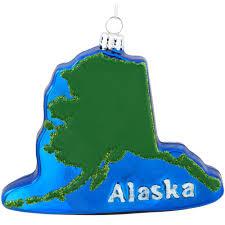 alaska glass ornament usa theme christmas ornaments