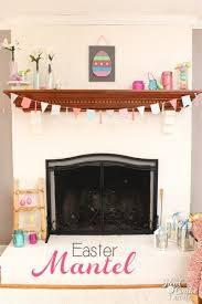 Easter Decorations For Living Room by My Mantel Easter Decorations