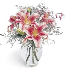 bouquet of lilies b1 3701 pink bouquet victor the florist the best in flowers