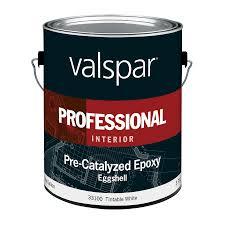 shop valspar pre catalyzed epoxy tintable white eggshell latex