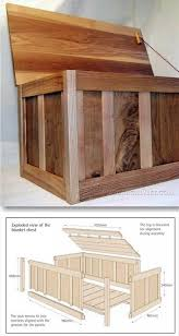 25 blanket box plans furniture plans and projects