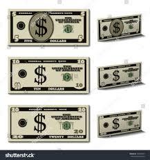 twenty five dollars vector five ten twenty dollar banknotes stock vector 146695697