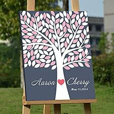 fall wedding guest book custom wedding guest book alternative canvas print