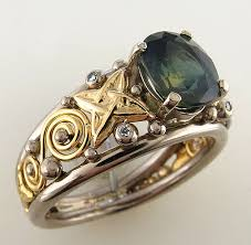 celtic rings celtic rings with colored gold a