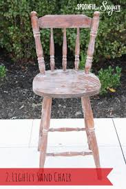 How To Paint Wooden Chairs by Diy Transform An Old Wooden Chair Part 1 A Spoonful Of Sugar