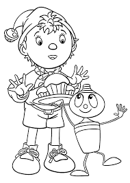 10 noddy coloring pages toddlers coloring