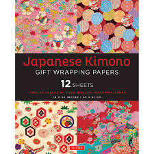 wrapping paper sheets japanese kimono gift wrapping papers tuttle publishing