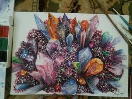 Paint Colorful - i paint colorful crystals using watercolor bored panda