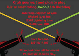 laser tag birthday invitation templates free