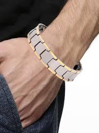 magnetic bracelet gold plated images Buy the jewelbox 18k gold plated tungsten bio magnetic bracelet jpg