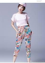 2017 crop top and pant set 2017 summer style women u0027s shirt