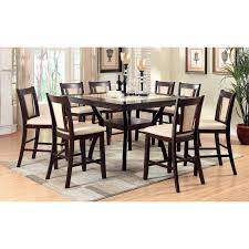 Dining Room Table 6 Chairs by Furniture Of America Mullican 7 Piece Display Top Dining Table Set